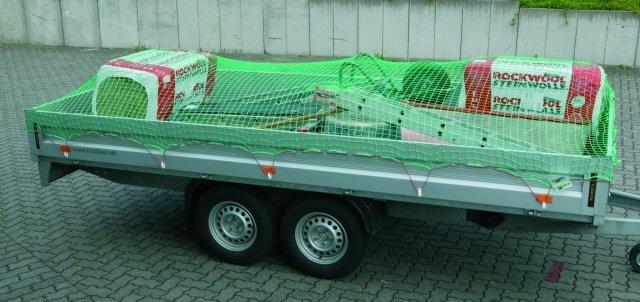 Aanhangwagen afdeknet - 3 mm PP, maas 100 mm - 1 40 m x 2 50 m